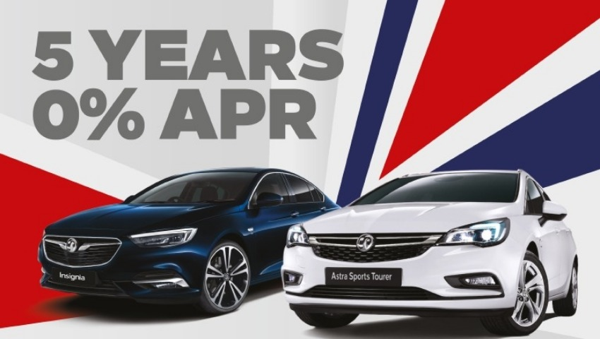 Insignia and Astra 5 Years 0% APR