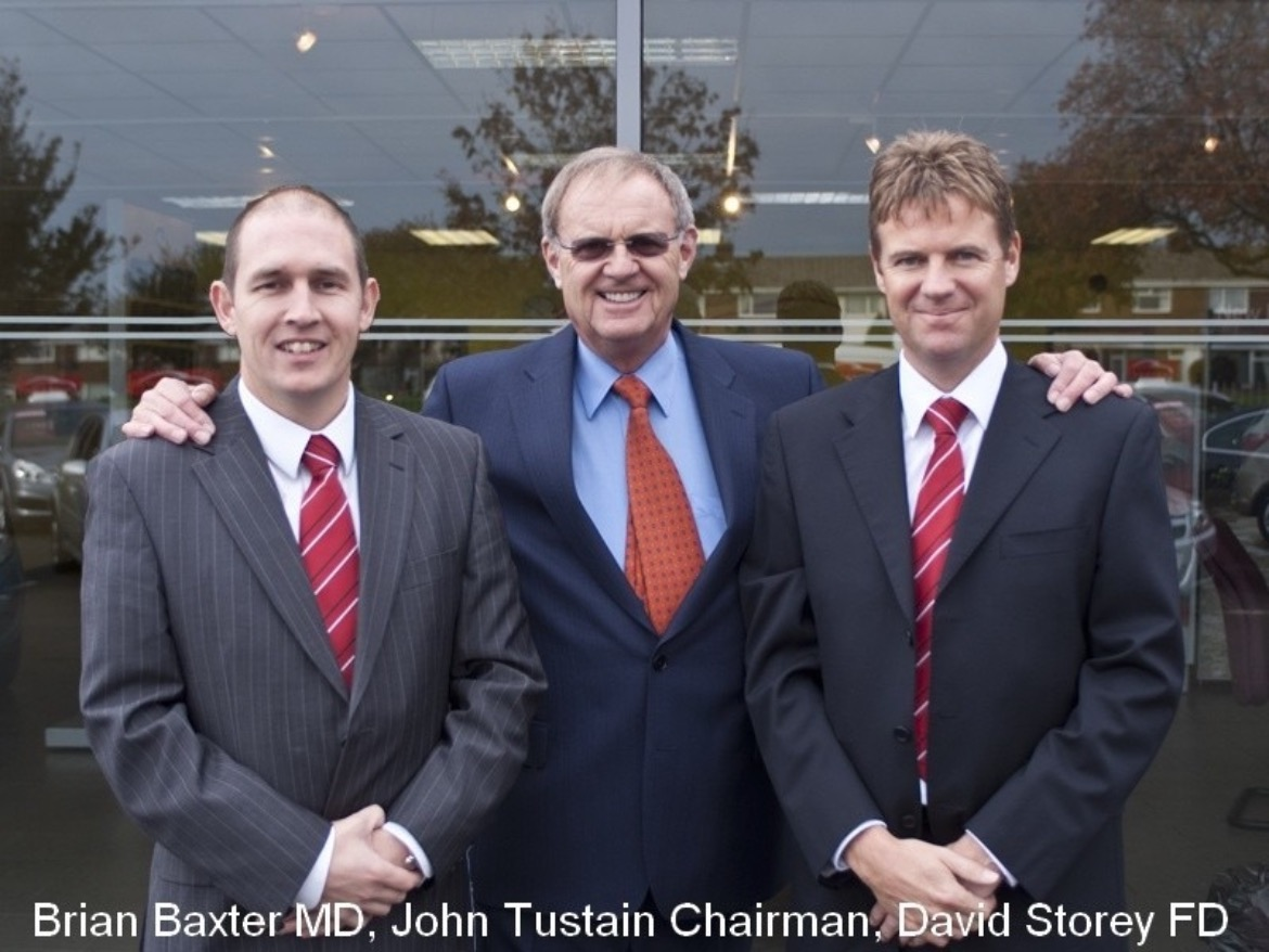 John Tustain, Brian Baxter and David Storey